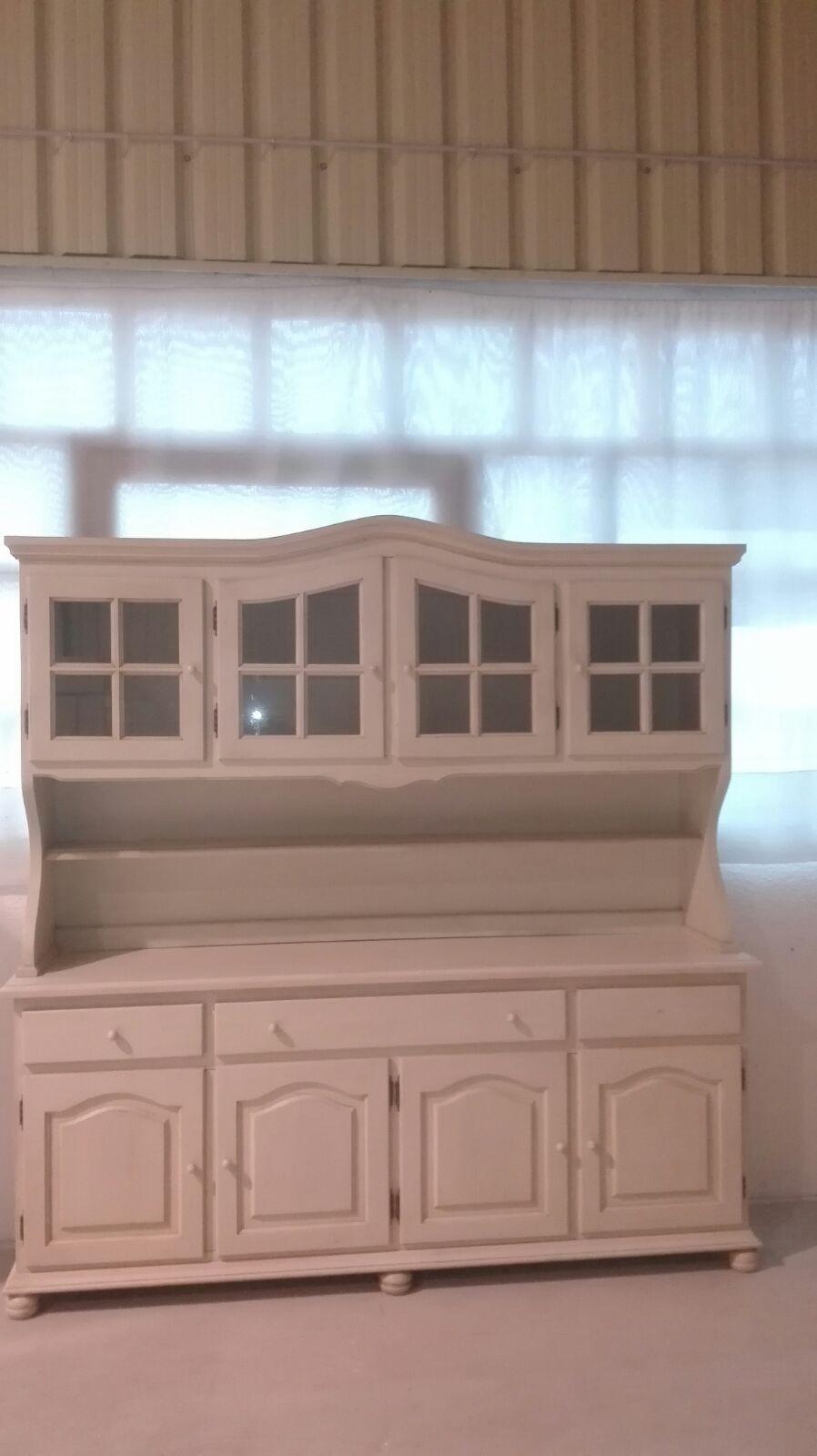 Bufet 4 portes de fusta + 4 portes vidre transparent